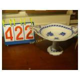 Flo Blue - Pedistal 2 Handle Fruit Bowl