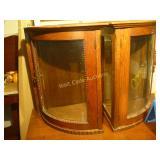 Corner Shelves Antique - Matching Pair - Glass