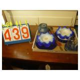Victorian Bowls (4), Blue Plates (4), + Bonus -