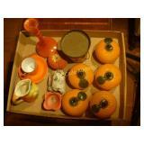 Orange and Peach Deco and Candle Holders + Bonus