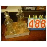 Set of 4 Decanters