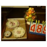 Plates (3), Bowls (2), Glass Fruit Display +