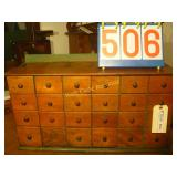 Apathacary Antique Cabinet with 24 boxes/drawers