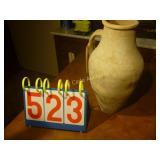 """Turkish Urn - Grey - Antique - 17"""" Tall"""