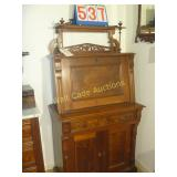 Antique Secretary - Includes a beautiful top