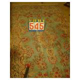"English Room Rug - 84""x49"" - Blue Floral"
