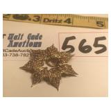14k Gold Star Pendant .6g Total Weight