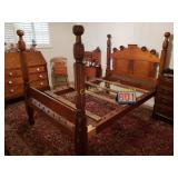 4 Post Bed - Regular Size, String bottom with
