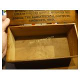 Medical Antique Box with Handle - Alpha Medical