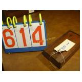 "1820-1840 Spice Box - Antique - 6 Drawer - 5""x9"""