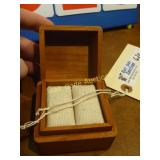 "Ring Box - Antique Wooden Dovegtail ""Rare"" -"
