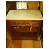Marble Top Antique - Bookcase - with dovetail -