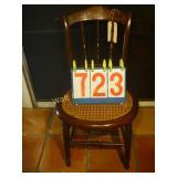 Wicker Bottom Antique Chair