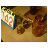 Amber Glass , Vases and Candleholders - Mixed Lot