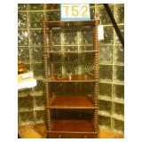 "5 Shelf Wooden Bookshelf with bottom Drawer 51"""