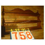 Wooden China Antique Shelf - 3 Shelf - With Spoon