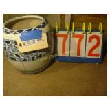 """Blue Floral Planter - 10""""x10"""""""