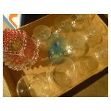 Fenton Vase & German Glass Golfer Jar- Mixed Box