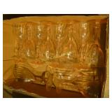11 Pink Glass Sherry Glasses