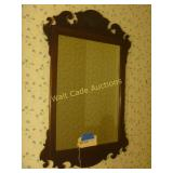 "Mirror - Antique Square Wood Framed - 20""x38"""