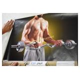Wall Decal Fitness Man Lifting Weights