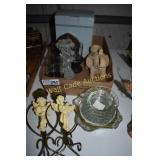 Home decor lot - Candle holders,  Elephant,