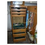 Jewelry Box Wooden with Jewelry approximately