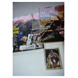 Kobe Bryant Collectors Card and magazines