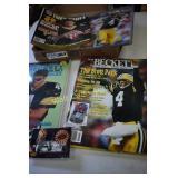 Brett Favre Pinnacle Collectors Card and Magazine