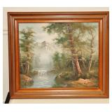 Original Framed Scenic Oil Painting by Roger Brown