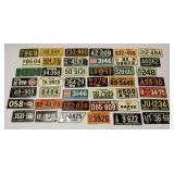42 Small License Plates USA & International