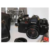 Konica Autoreflex TC 35mm SLR Camera 2 Lens