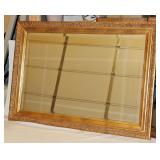 Beautiful Gold Framed Beveled Glass Mirror 42""