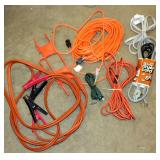 "Electrical Cords w 100"" Extension Cord Jump Start"
