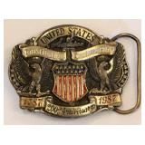 LE Constitution 200th USA Brass Belt Buckle