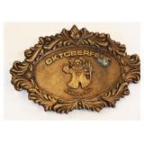 1977 Oktobertfest Delavan Wis Brass Belt Buckle