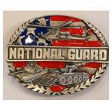 1991 National Guard Pewter Enamel Belt Buckle