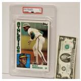 Larger Rickey Henderson Baseball Card Graded