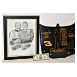 Dale Earnhardt & Jr Framed Print & Forever Hood