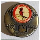 1979 St Louis Cardinal MLB Brass Belt Buckle