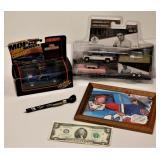 2 Dale Earnhardt Items Elvis