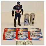 Talking Cpt America Star Wars Tin 3D NFL Airplanes