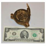Essex Brass Folding Compass
