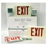 "Four ""Exit"" Signs 2 New in Box"