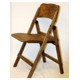 Vintage Folding Bent Wood Chair