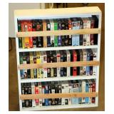 Lot of VHS Movies in Wood Shelf - B