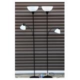 Pair of Matching Floor Lamps w Reading Lamps Works