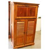 Vintage Solid Wood Wine Cabinet