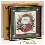 Still in Box Santa Print Framed