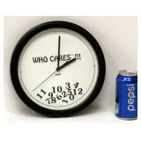 Who Cares? Wall Clock Works - Used